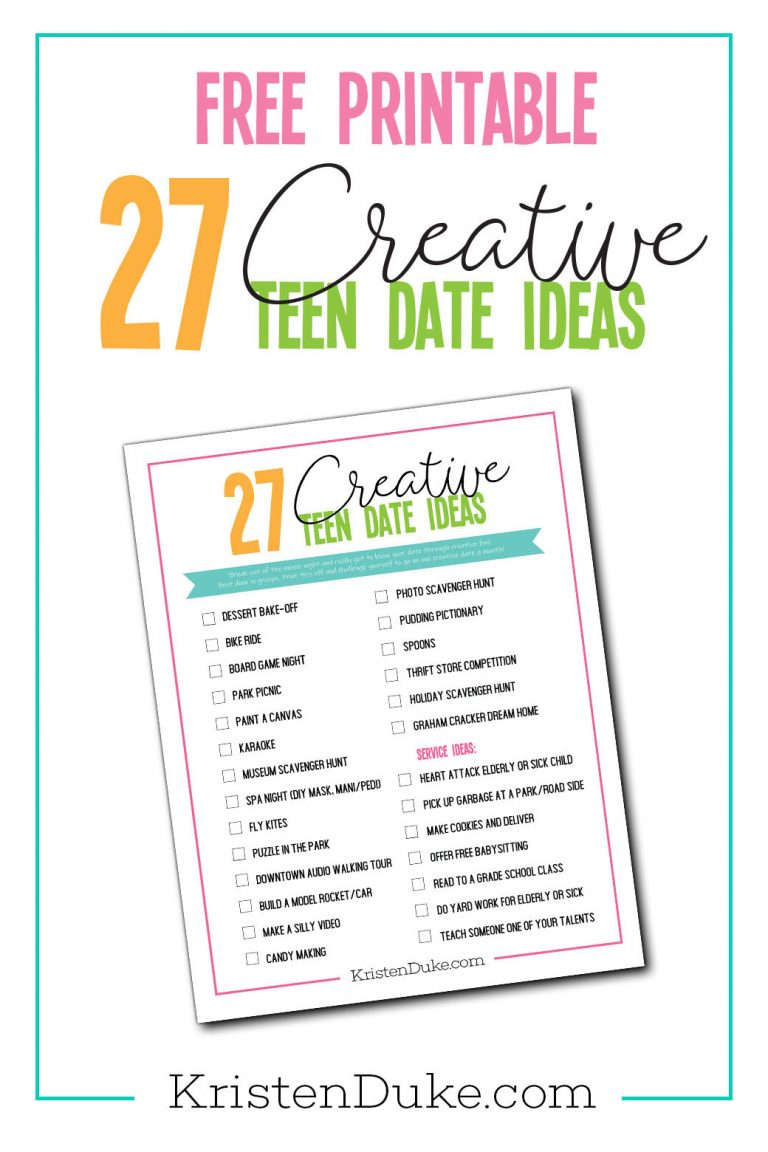 27 date ideas for teens