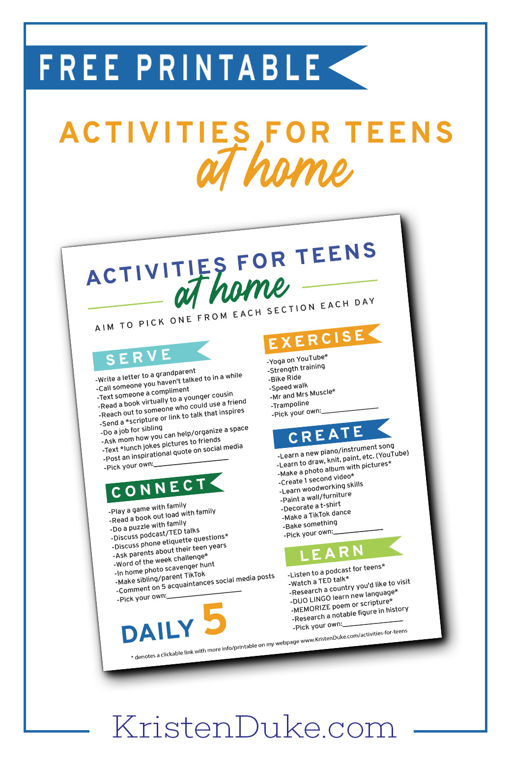 Activities for Teens at Home