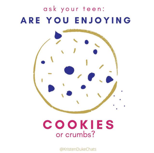 Are you enjoying cookies or crumbs?